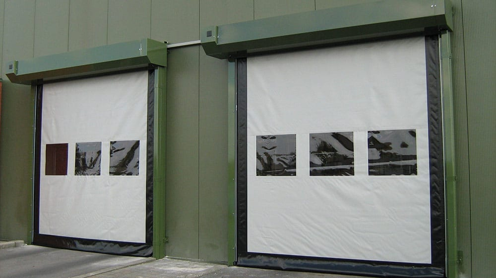 Vinyl garage door for commercial use
